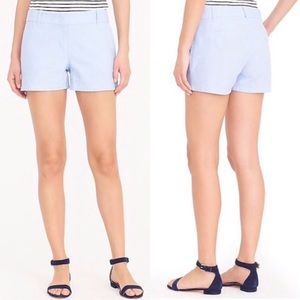🆕 J Crew Powdered Oxford City Fit Cotton Shorts